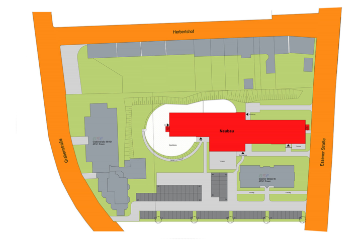 Pflgezentrum Stoppenberg - Skizze